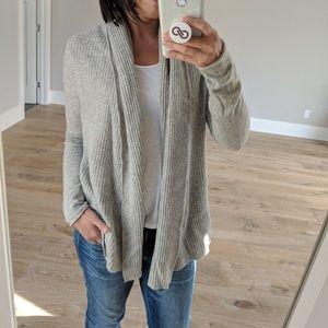 Club Monaco Grey Cashmere Shawl Sweater